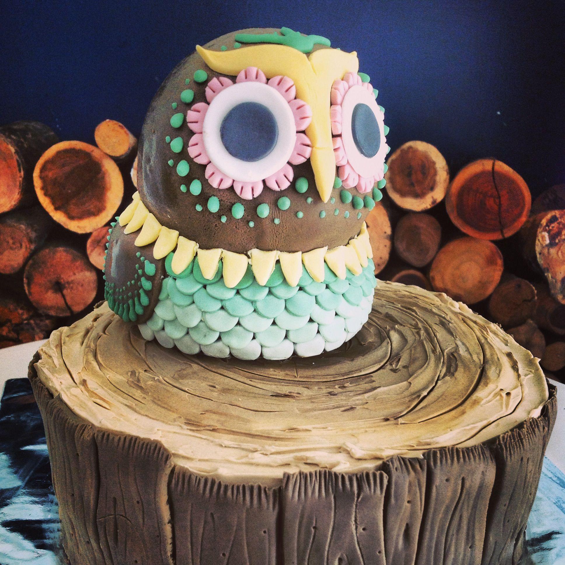 hoot! owl cake.