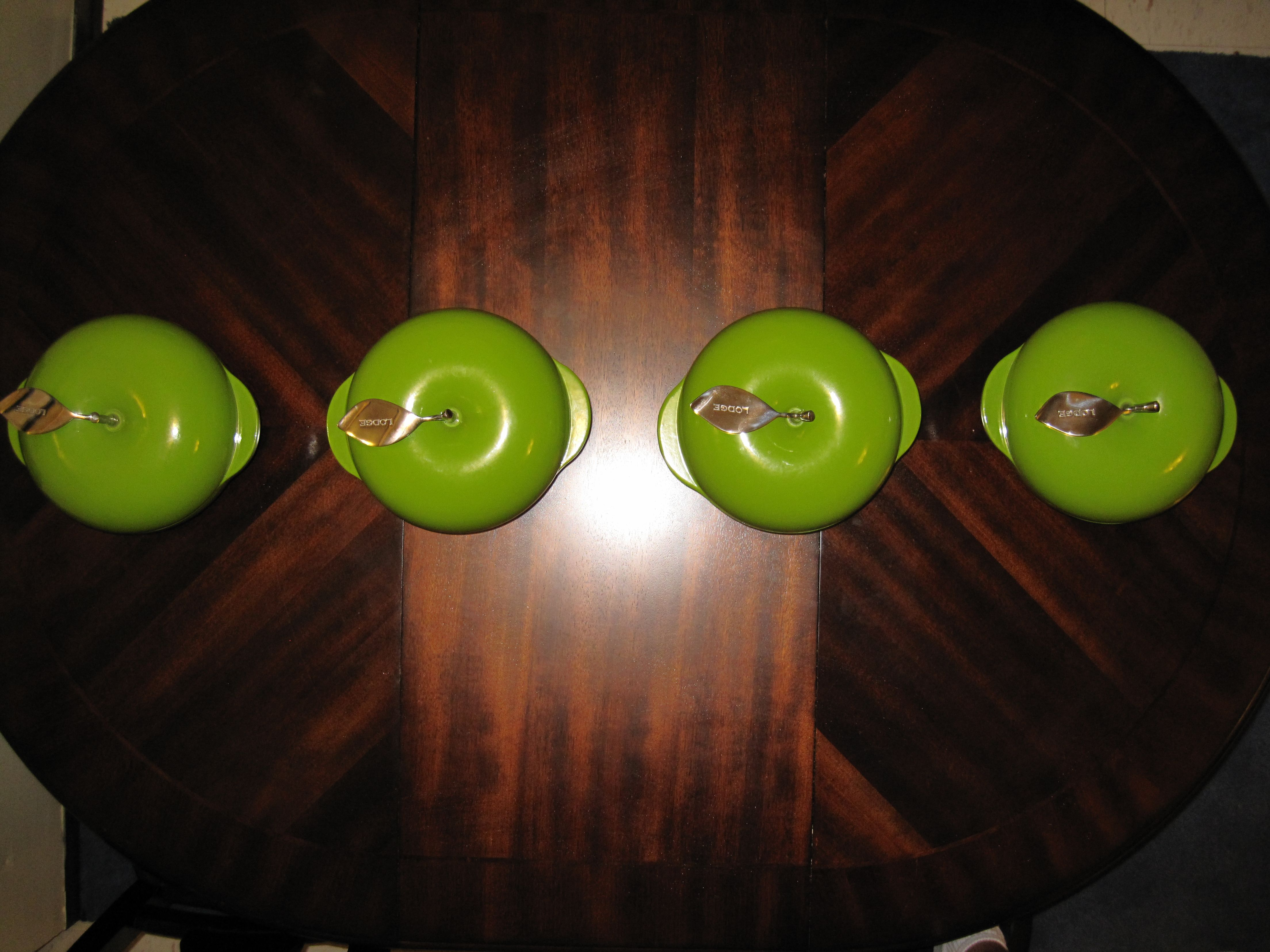 Looking down on Green Apples by Lodge Cast Iron