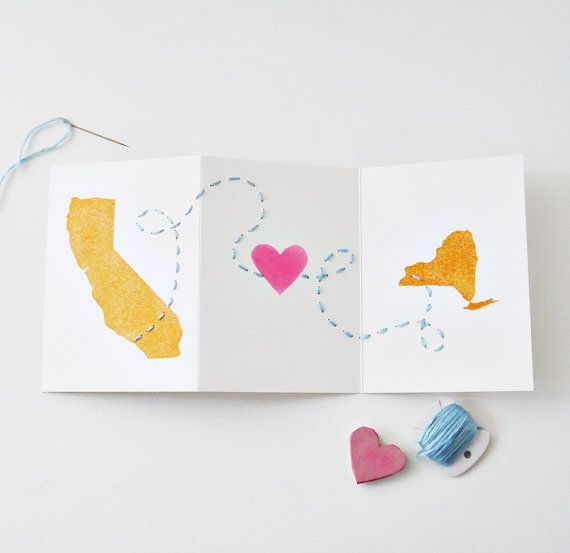 Long Distance Relationship Valentines Day Love Anniversary Card – Custom Valentines Card
