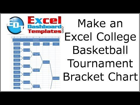 How-to Make a College Basketball Tournament Bracket Chart in Excel - chart excel