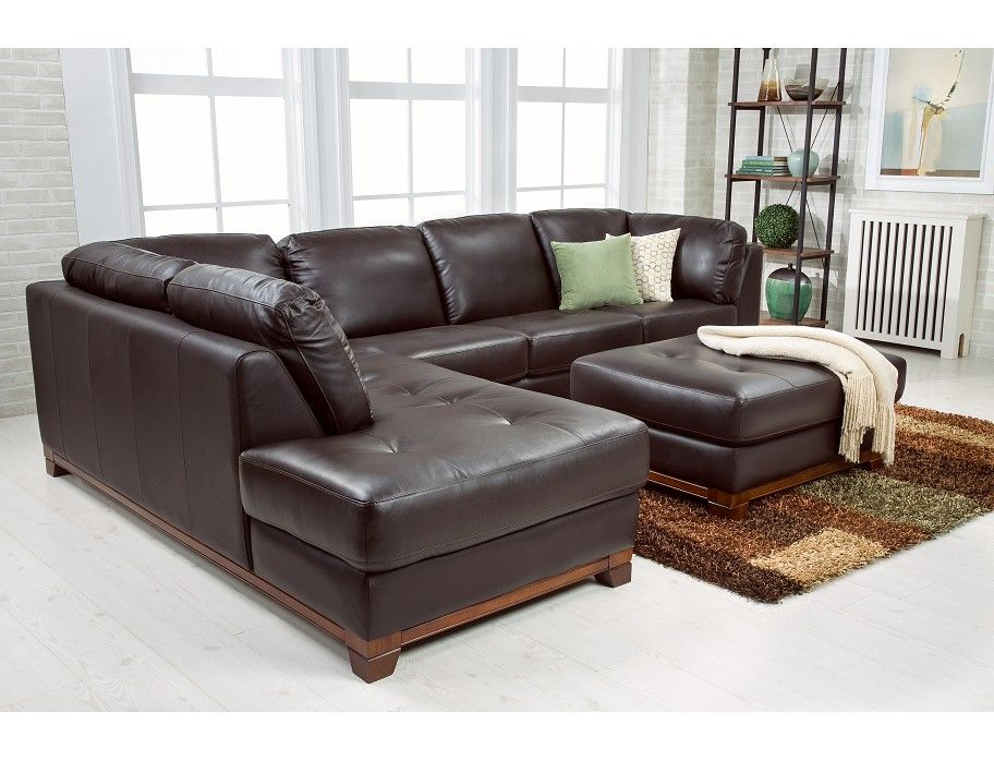 Slumberland | Brooklyn Collection   Brown Left Chaise Sectional