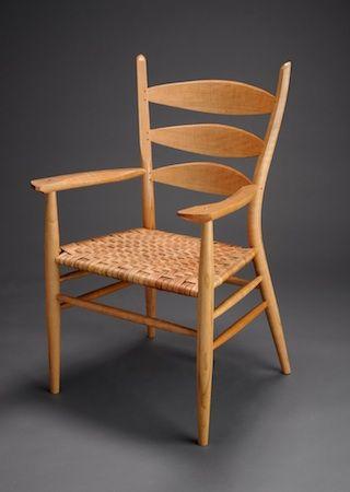 Brian Boggs Classic Ladderback Arm Chair Chair Chair Design Green Woodworking