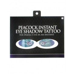 Instant Eye Shadow Tattoo - Peacock Print