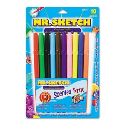 Mr Sketch Scented Stix Watercolor Marker Set Fine Bullet Tip