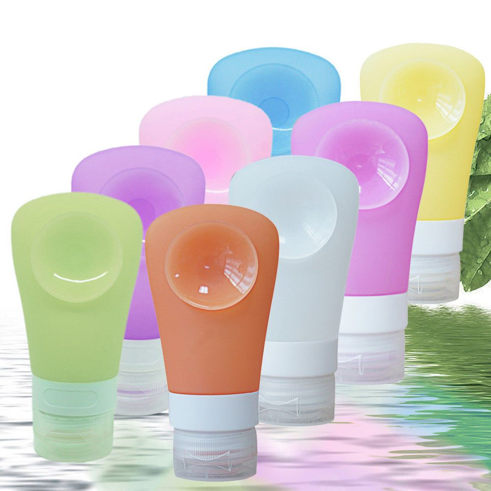Pro Home Travel Packing Silicone Press Bottles Set Lotion Shampoo
