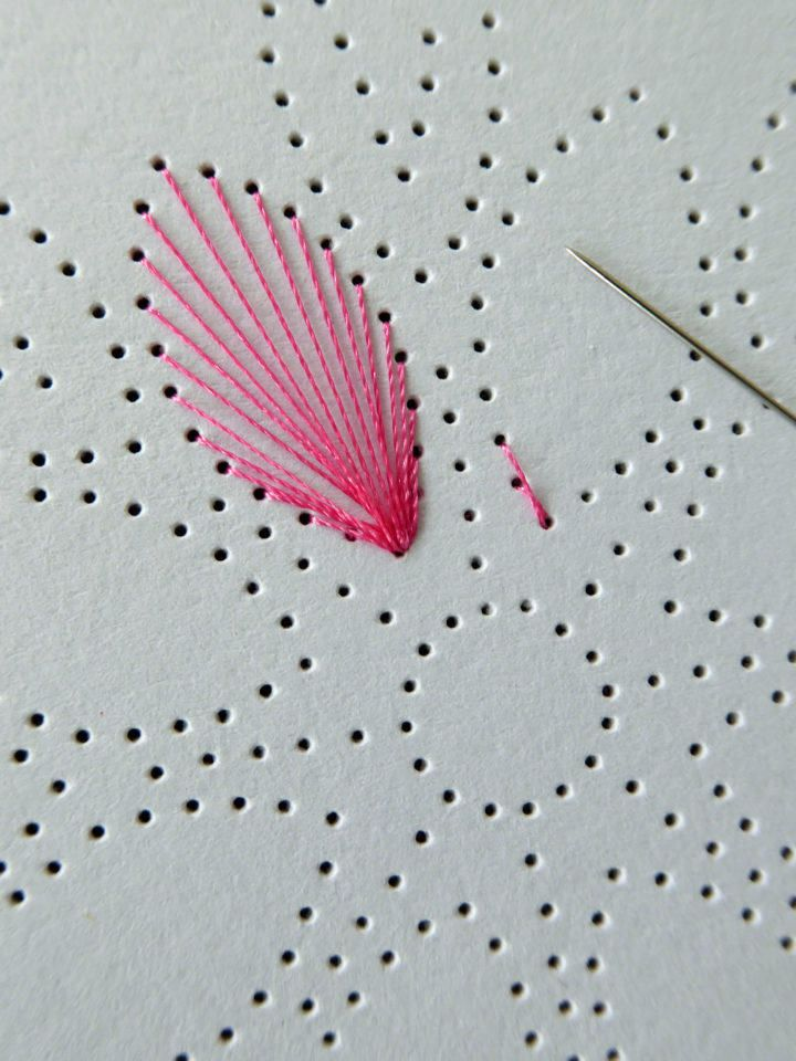 Mandala de fleurs avec des graphiques de fil – famille de bricolage   – Fadengrafik