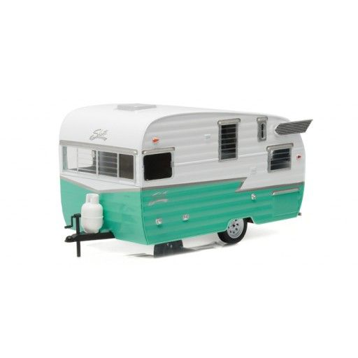 1961 Shasta Airflyte Camper Green 1 24 Scale Diecast Model By Greenlight Car Model Scale Models Cars Camper