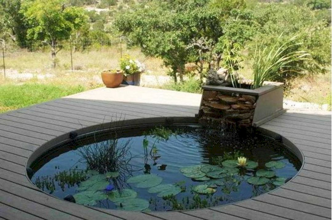 14 Minimalist Fish Ponds Design You Must Try At Home Front Yard Pond Design Koi Pond Design Minimalist Garden