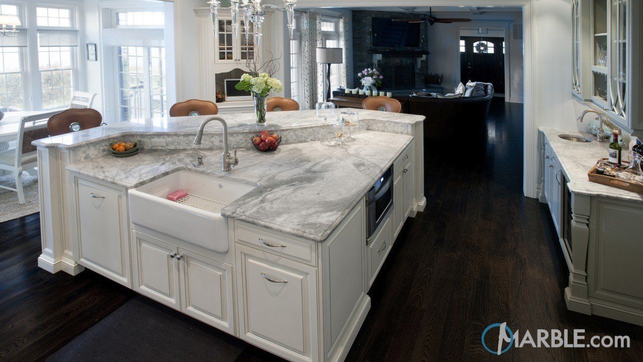 White Fantasy Marble Kitchen Countertop | Marble | White