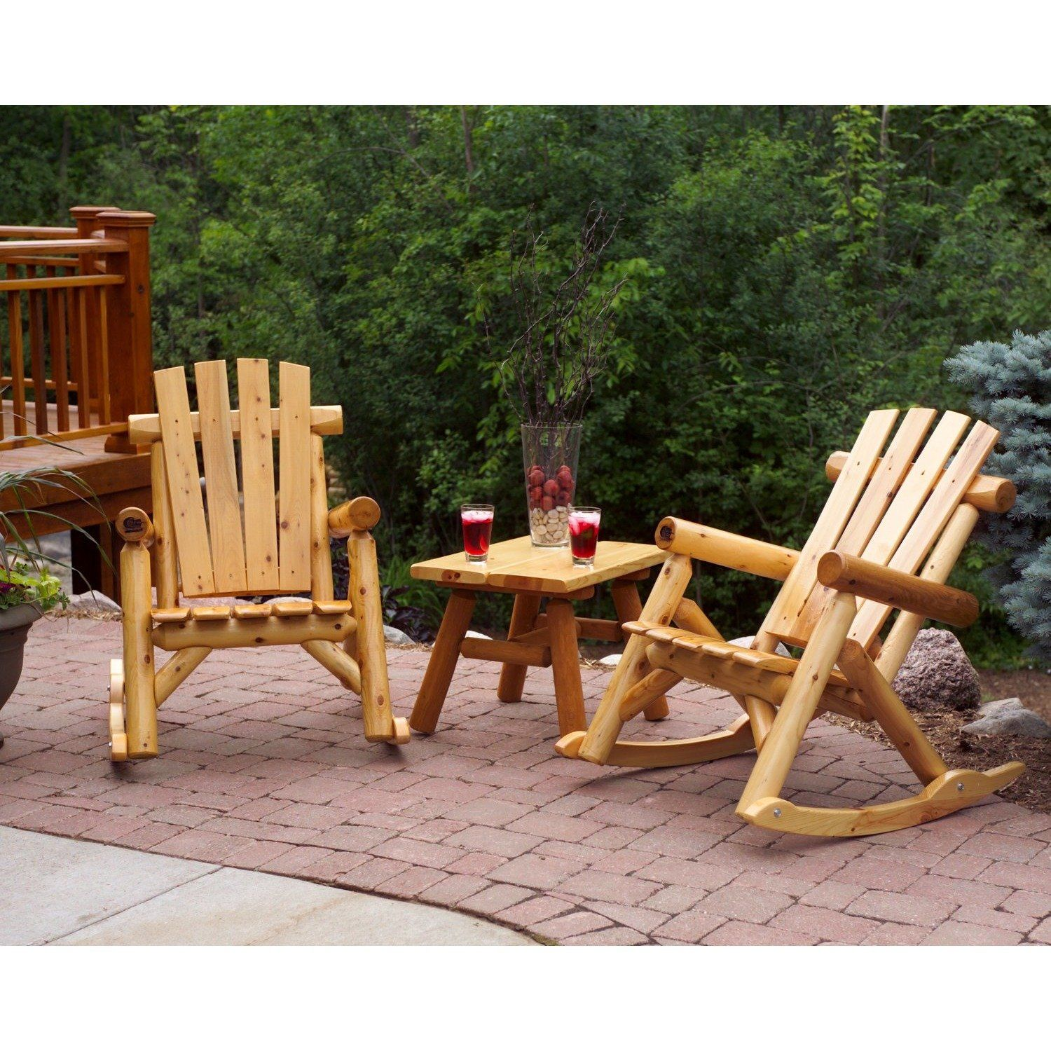 Moon Valley Rustic 2 Rockers & 1 28inch End Table Lead