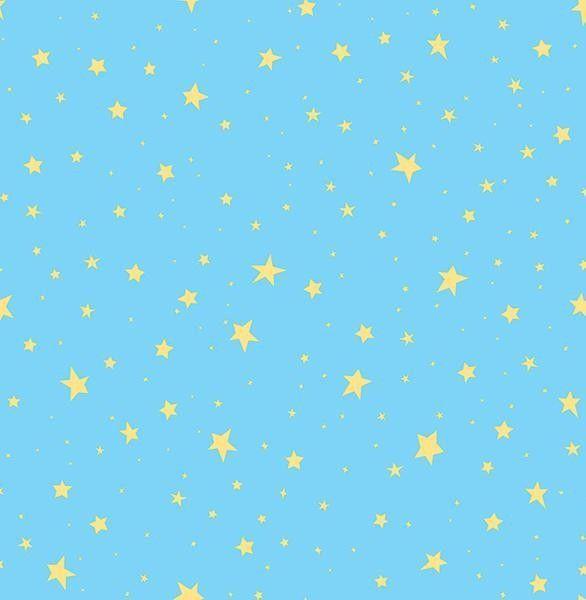 Turquoise & Yellow Stars Wallpaper FREE SHIPPING