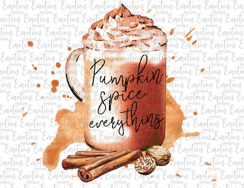 Pumpkin Spice Everything Watercolor Png Clipart Instant Etsy In 2020 Clip Art Pumpkin Spice Watercolor Rooster