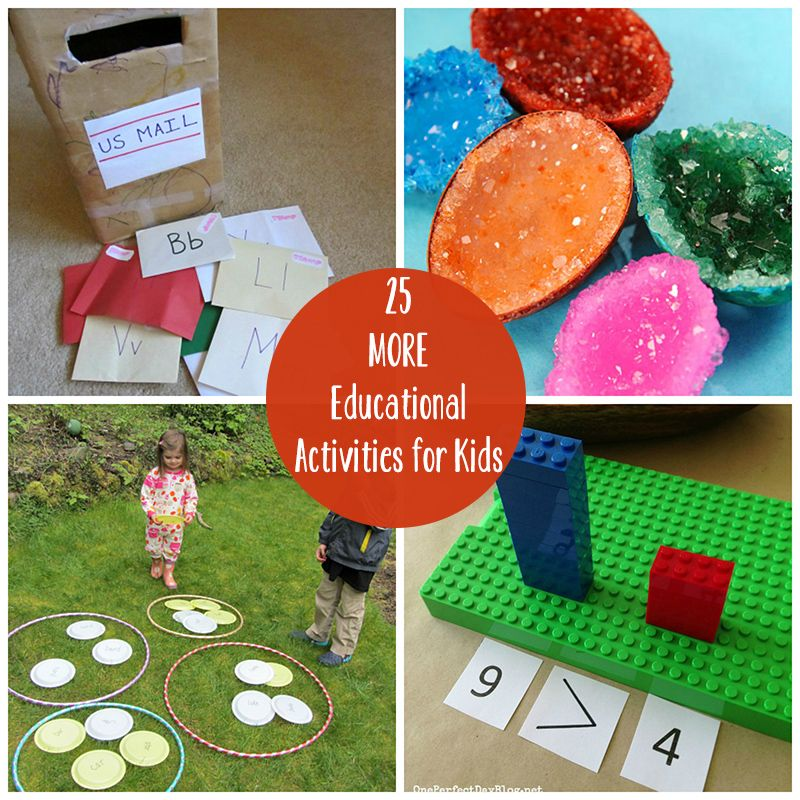 25 More DIY Educational Activities for Kids Educational