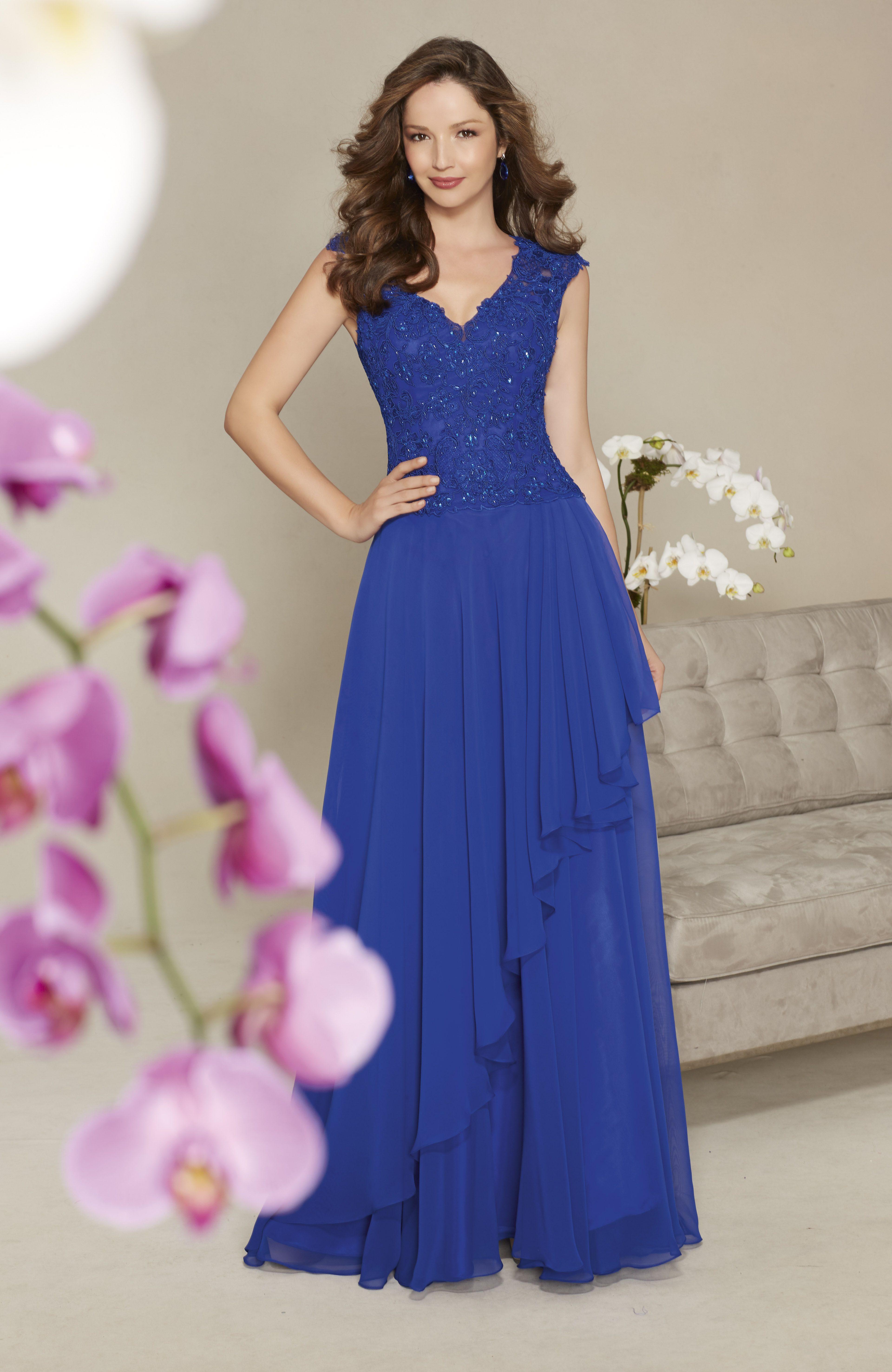 Color chal para vestido azul electrico