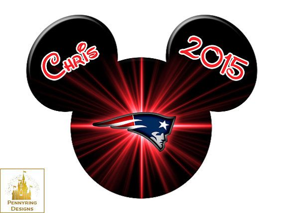 reputable site 7161a 3423b Disney New England Patriots NFL Mickey Mouse by Pennyring on ...