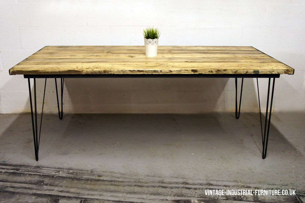 Dining Table Hairpin Legs | Design Ideas 2017 2018 | Pinterest | Hairpin  Legs, Vintage Industrial Furniture And Industrial Furniture