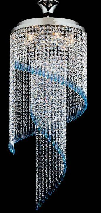 The Kolarz Art Deco Spiral Crystal Chandelier Is Available From Luxury  Lighting. The Art Deco Cascade By Kolarz Lighting Is Silver Plated And Is  Dressed ...