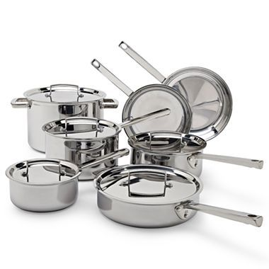 Jcp Everyday 12 Pc Tri Ply Stainless Steel Cookware Set