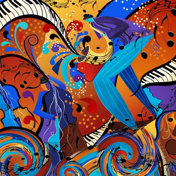 Juleez Musical Art Music Painting Jazz Art