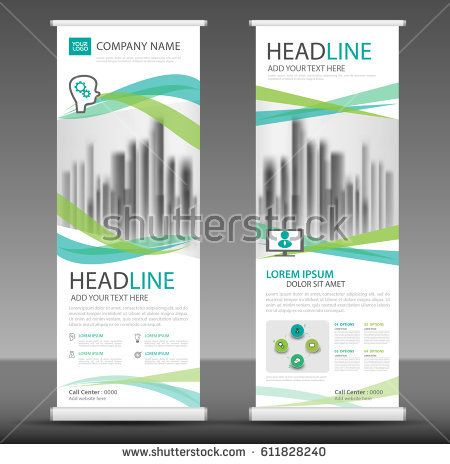 Roll up business brochure flyer banner design, stand template - advertisement brochure