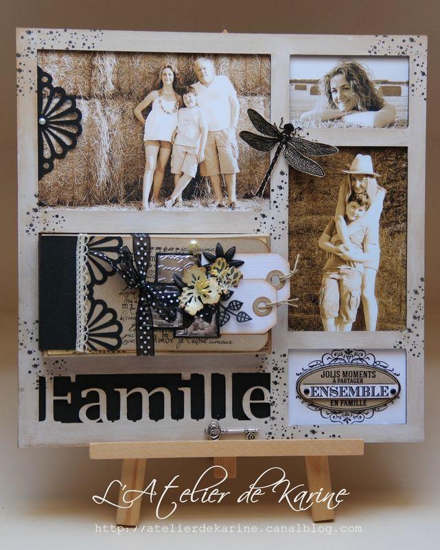 cadre d co famille 1 scrap deco pinterest cadre deco cadres et familles. Black Bedroom Furniture Sets. Home Design Ideas