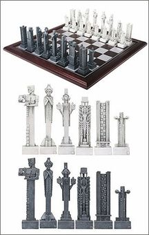 Frank Lloyd Wright Midway Gardens Chess Set Sprites And Other Distinctive Design Elements Mr Created For The