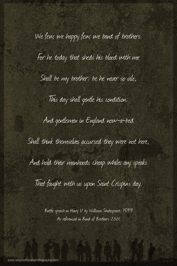 Band Of Brothers Quote Henry V Saint Crispins Day Speech