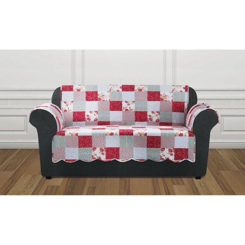 Sofa Sale Sure Fit Heirloom Quilt Furniture Pet Protector Loveseat Cover Cottage Patchwork