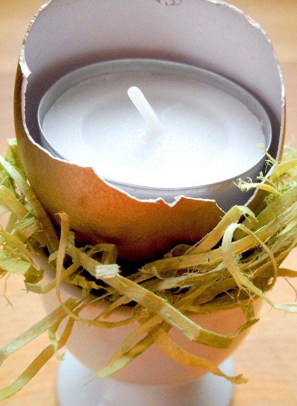 Osterkerzen Basteln Mit Eierschalen Kreativer Bastelblog Mit