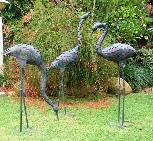 Some of the famous garden ornaments include statues bird bath