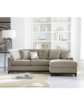 Clarke Fabric Sectional Sofa Living Room Furniture Collection ...