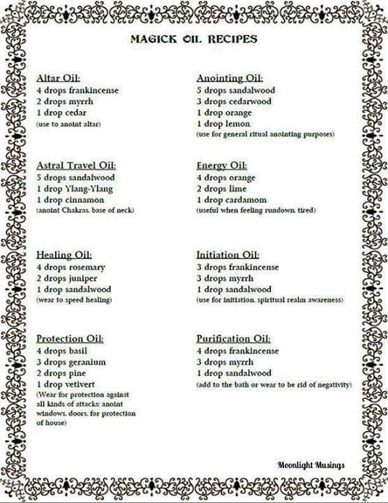 Magick oil recipes | Herbs, Incense & Powders | Magick, Book