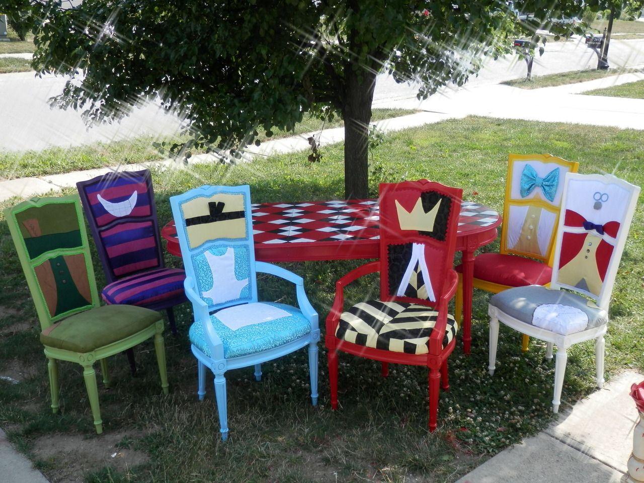 Alice In Wonderland Chair Rocking Pillows Heck Yeah Disney Merch Dining Table I