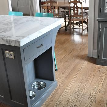Kitchen Island Pet Food Bowls Dog Kitchen Grey Kitchen Cabinets