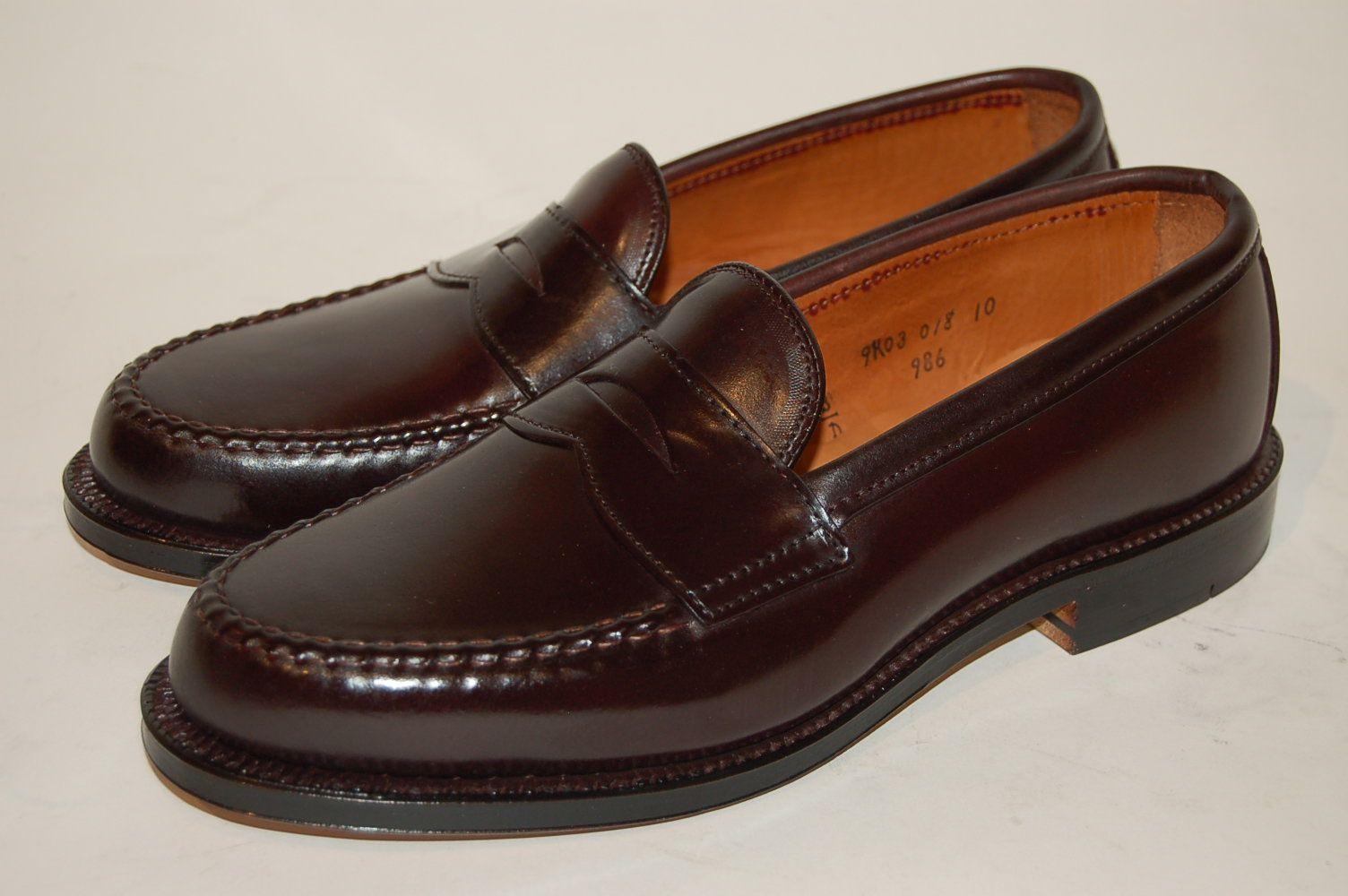 be956c8e37 Alden Shoe Company.. Van Last in Genuine Horween Shell Cordovan Color 8.