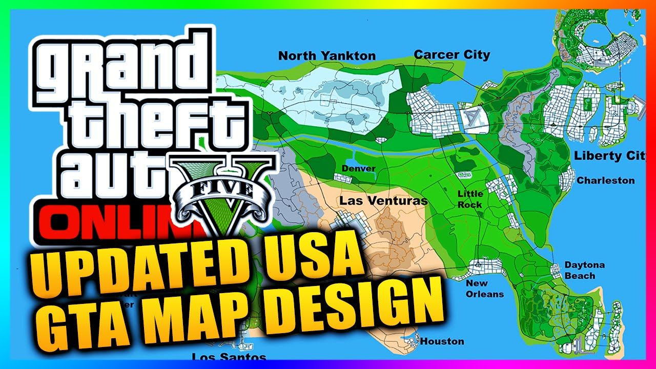 Updated GTA Series USA Concept Map Featuring Las Venturas Liberty