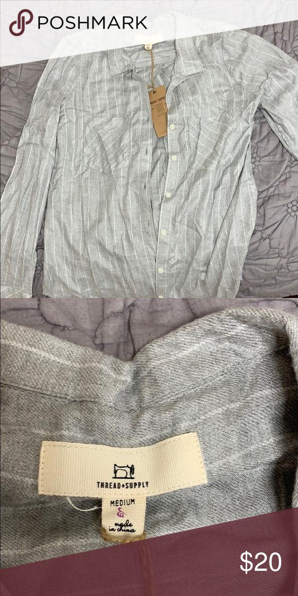 886862de7 Thread+Supply Grey Button Down Soft grey button down. Brand new tags ...