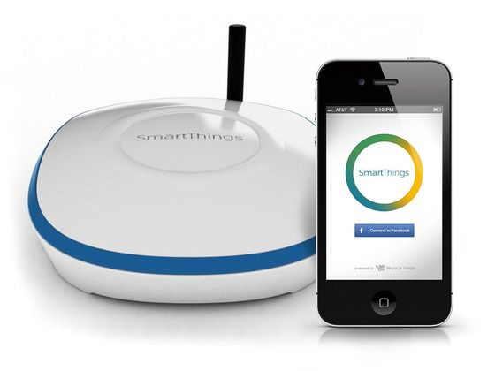 SmartThings: innovative home management center. Sensors, including power outlet that allow any electric device to be turned on and off, sensor that monitors doors, windows or cabinets, motion sensor that can detect movement within a room, and a presence sensor that can notify you when people and pets come and go. All you need to do is just to connect the smart device on the Internet, while the matching SmartApps allow you to monitor and control your devices at home via iOS or Android…