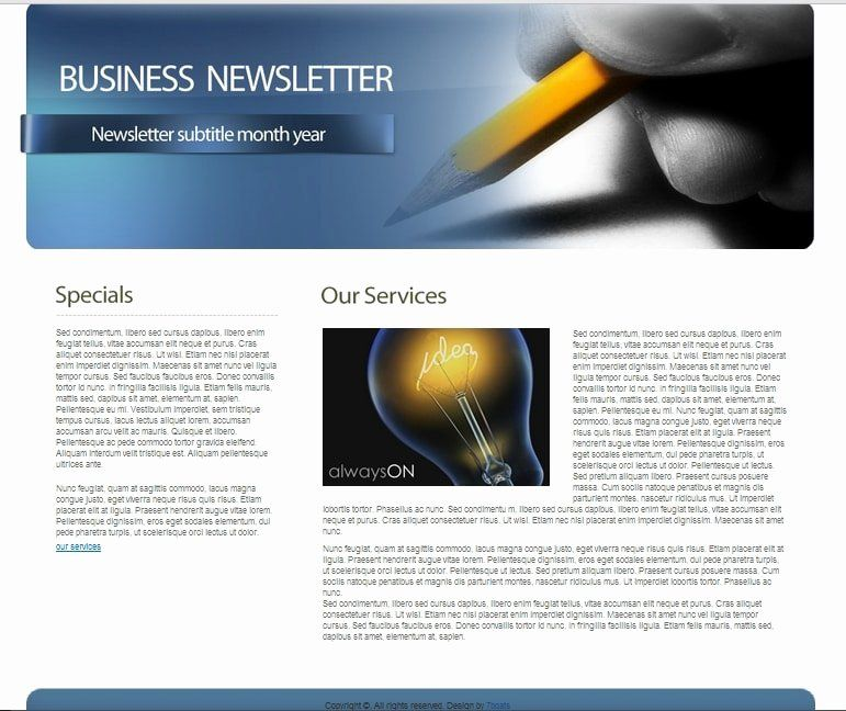 Free Office Newsletter Templates Unique Download Free Html Business Newsletter Temp In 2020 Newsletter Templates Newsletter Template Free Education Newsletter Template
