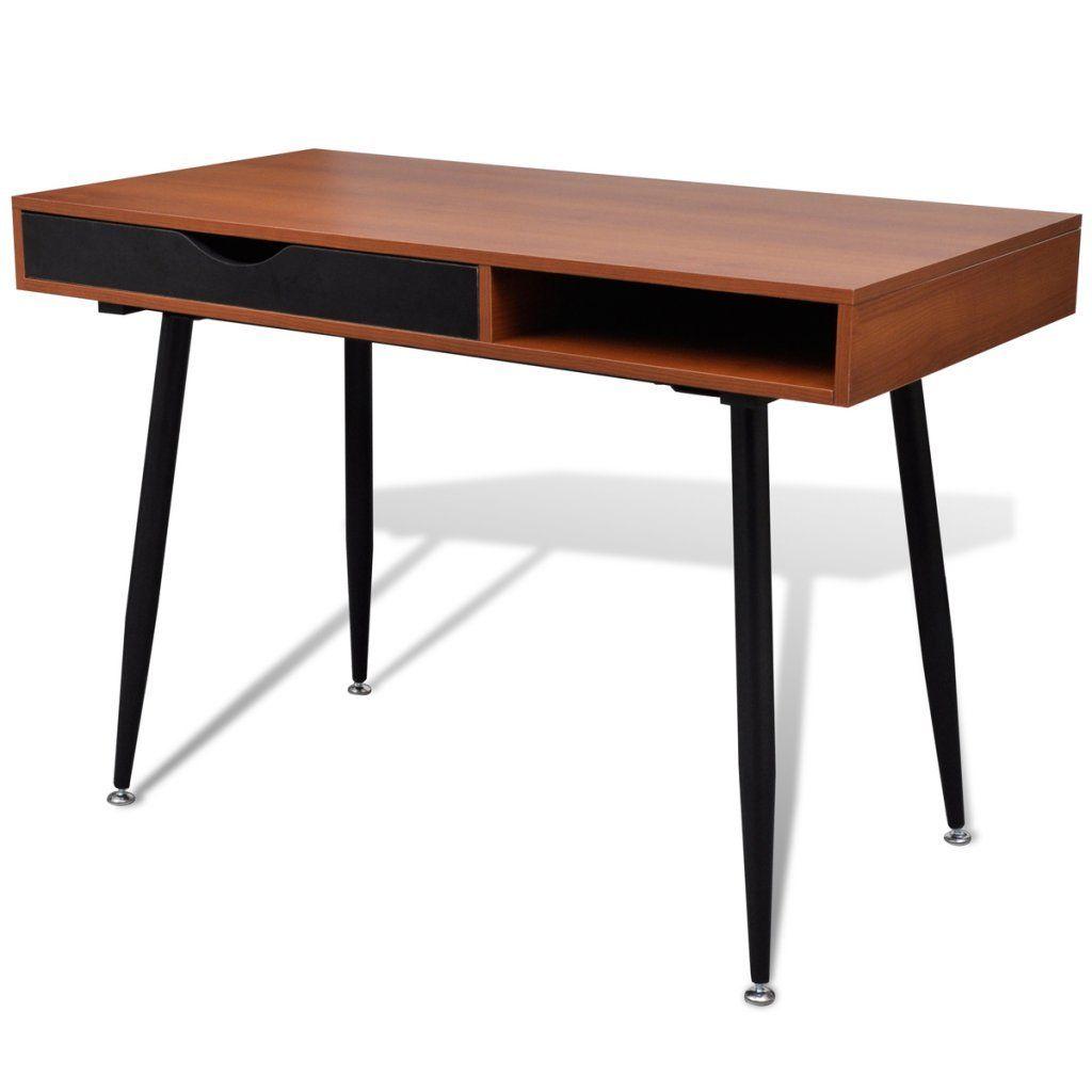 vintage desks for home office. Brown Workstation Computer Desk Laptop PC Table Home Office High Quality M Vintage Desks For O