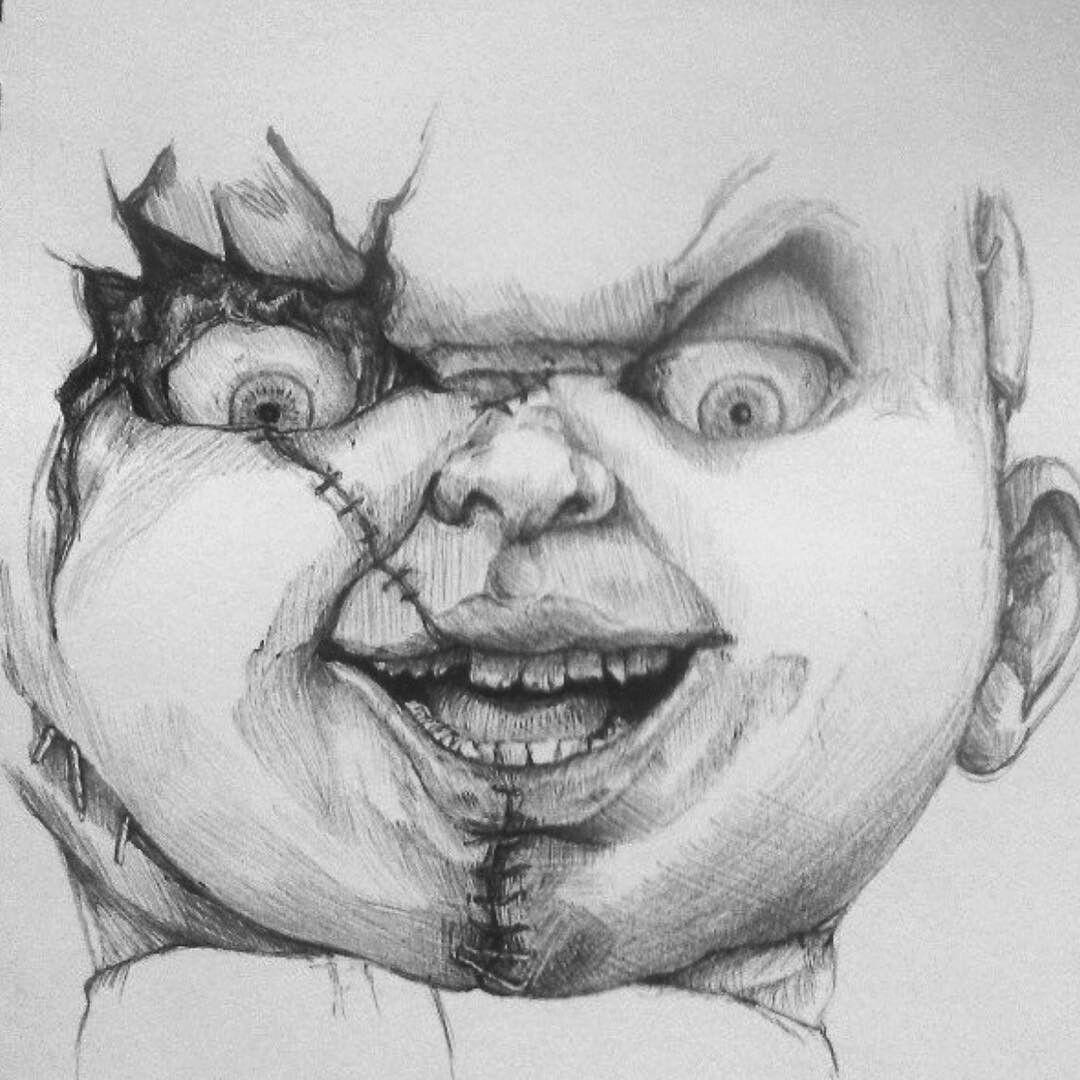 Pin By Efrasiyab On Chucky Yoda Art Horror Artwork Chucky Drawing