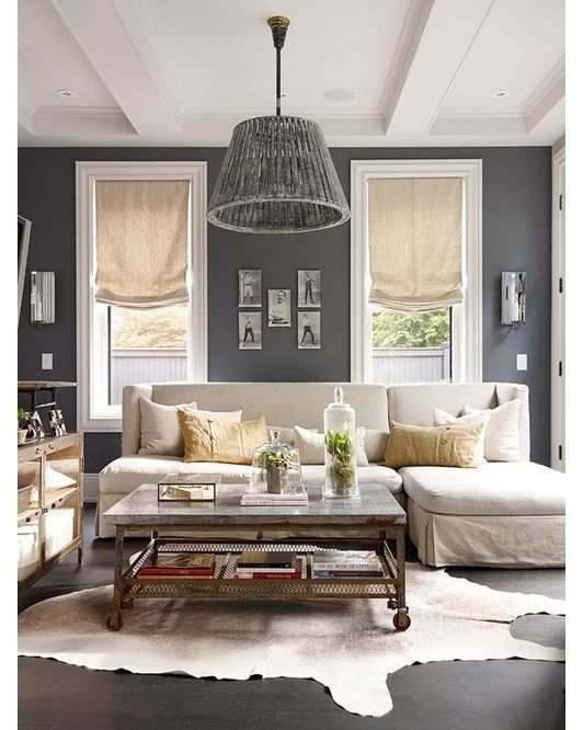 Grey Walls White Trim Light Khaki Furniture Curtains With