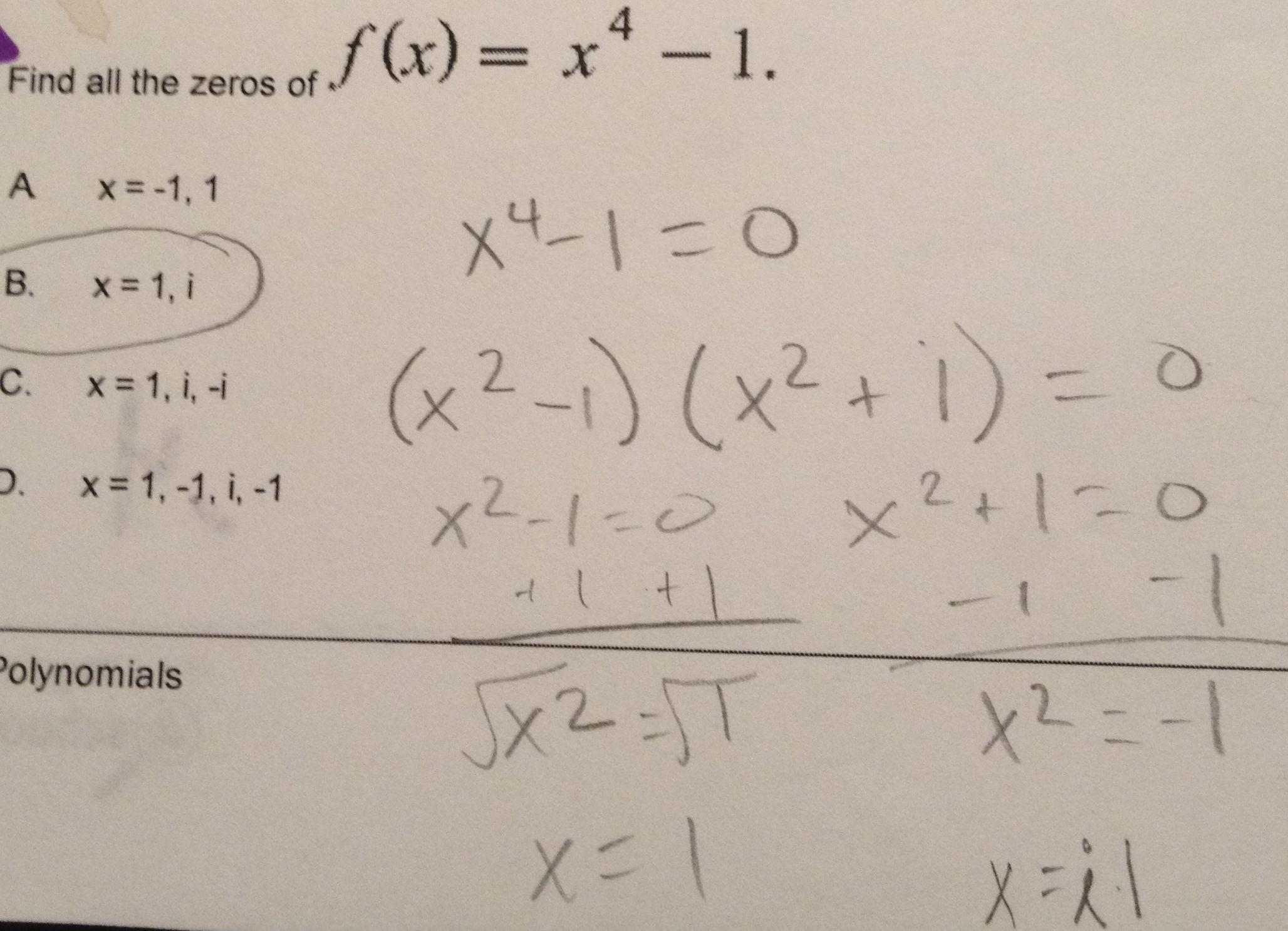 Polynomial Factoring Misconception