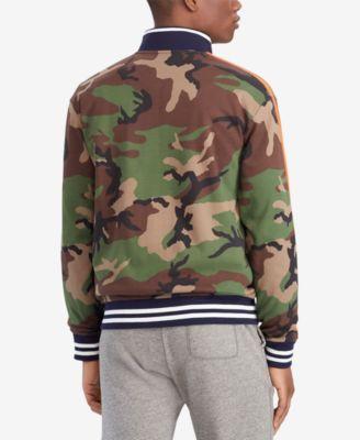 a478cb4db Polo Ralph Lauren Men s Camouflage Cotton Interlock Track Jacket - Surplus  Camo Multi XL