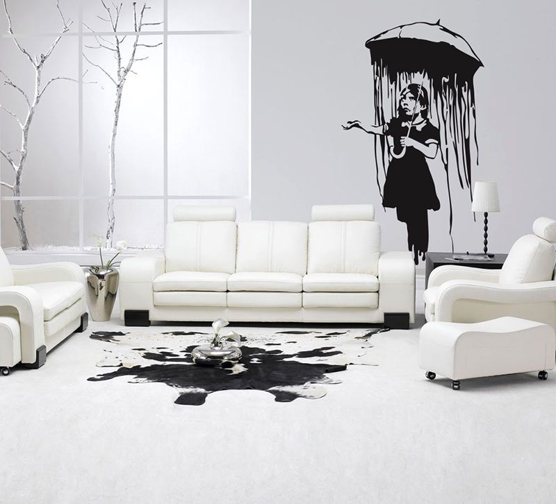 ... Directly From China Wall Decals Stickers Suppliers: New Arrival Banksy Wall  Decal Sticker Vinyl Street Art Graffiti Bedroom Rain Girl Room Decoration