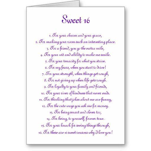 Sweet Sixteen Cards Sayings - Iskanje Google