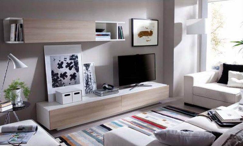 Mueble salón comedor dúo blanco ártico nórdico | Muebles TV | Pinterest