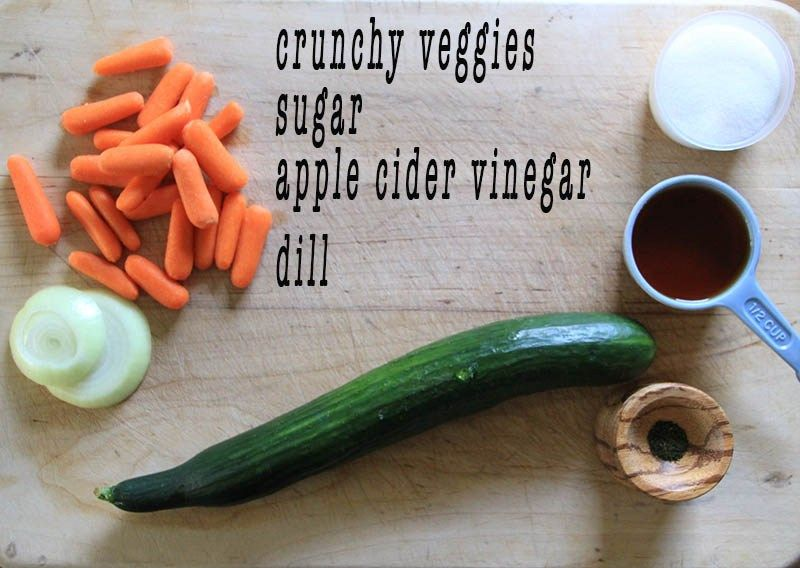 Quick & Easy Pickle Recipe with cucumber and carrot