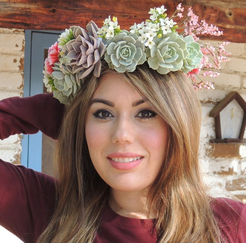 Sukulent Wedding Bridal Crown – Der Sukkulentenmarkt der Türkei   – Sukulentler