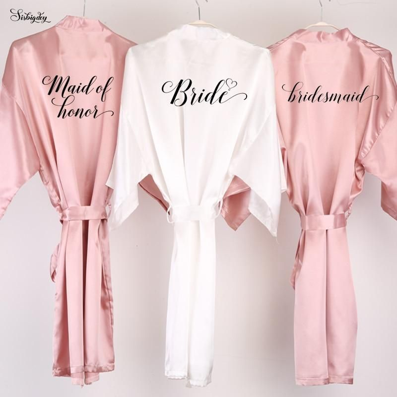 pajama party robes Ready to ship getting ready robes Dust pink Bridesmaid robes wedding favors pale pink dull pink wedding gift robes